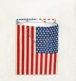 amerykański torby flaga zakupy Zdjęcie Stock