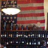 Amerykański wino czas zdjęcie stock