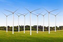 amerykański wsi gospodarstwa rolnego wiatr Zdjęcie Stock