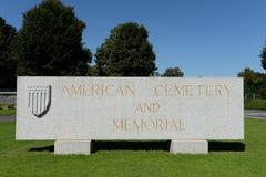 Amerykański WW2 cmentarz Zdjęcie Stock