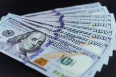 amerykańskich dolarów Sto Dolarowych banknotów, 100 Obraz Stock