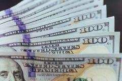 amerykańskich dolarów Sto Dolarowych banknotów, 100 Obrazy Stock