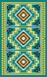 Amerykańskich indianów koc plemienny wzór Zdjęcie Stock