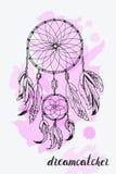 Amerykańskich indianów symbolu tradycyjny dreamcatcher Obraz Royalty Free