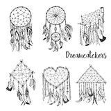 Amerykańskich indianów symbolu tradycyjny dreamcatcher Obrazy Royalty Free