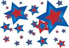 amerykańskie gwiazdy Zdjęcia Royalty Free