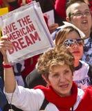 amerykańskie marzenia wiec save Obraz Stock