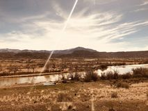Amerykańskie zachód chmury zdjęcia stock