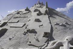 2015 Amerykańskiego piaska Sculpting mistrzostw Obrazy Royalty Free
