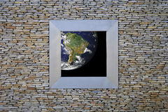 ameryka ziemi na południe od okna Zdjęcie Stock