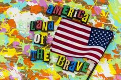 Ameryka ziemia odważny zdjęcie royalty free