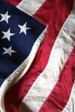 amerykanów 2 blisko flagi, Zdjęcia Stock