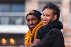 Amerykan Afrykańskiego Pochodzenia nastolatków Plenerowy portret Zdjęcie Royalty Free