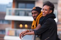 Amerykan Afrykańskiego Pochodzenia nastolatków Plenerowy portret Zdjęcia Royalty Free