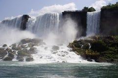 Amerykan spadki w Niagara spadkach Zdjęcia Royalty Free
