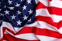 amerykanie się blisko flagę zdjęcie royalty free