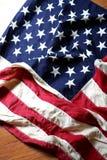 amerykanie się blisko flagę Fotografia Stock