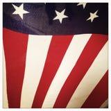 amerykanie się blisko flagę Fotografia Royalty Free