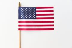 amerykanie się blisko flagę obrazy stock
