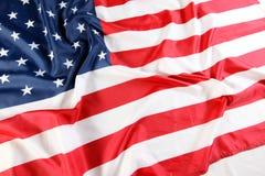 amerykanie się blisko flagę Obraz Stock