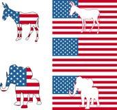 amerykanie symboli politycznych royalty ilustracja