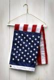 amerykanie wieszak fałdowy ubrania flagę Zdjęcia Stock