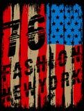 Amerykanin łamający flaga, rocznik flaga projekt/oryginalny trójnika druk/ ilustracji