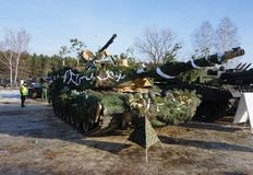 Amerykanin Abrams w Polska zdjęcia royalty free