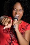 amerykanin afrykańskiego pochodzenia śpiew Zdjęcie Royalty Free