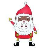 Amerykanin afrykańskiego pochodzenia Święty Mikołaj Obraz Royalty Free