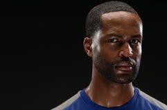 Amerykanin Afrykańskiego Pochodzenia atlety portret Z Pustym Expre zdjęcia stock
