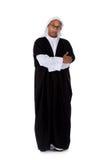 amerykanin afrykańskiego pochodzenia atrakcyjni mężczyzna sheikh potomstwa obrazy stock