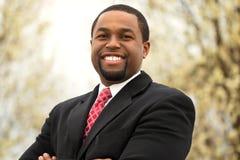amerykanin afrykańskiego pochodzenia biznesmena portret fotografia royalty free