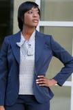 amerykanin afrykańskiego pochodzenia biznesowa corproate kobieta Obrazy Royalty Free