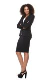 Amerykanin afrykańskiego pochodzenia biznesowej kobiety ono uśmiecha się Obraz Royalty Free