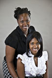 amerykanin afrykańskiego pochodzenia córki matka Obrazy Royalty Free