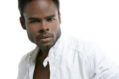 amerykanin afrykańskiego pochodzenia czarny śliczni mężczyzna portreta potomstwa zdjęcia royalty free