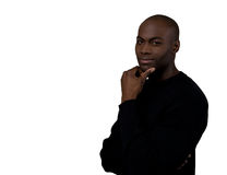 amerykanin afrykańskiego pochodzenia ja target338_0_ ufny męski Zdjęcia Royalty Free