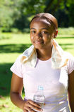amerykanin afrykańskiego pochodzenia jogger Zdjęcia Stock