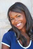 Amerykanin afrykańskiego pochodzenia kobieta. fotografia stock
