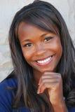 Amerykanin afrykańskiego pochodzenia kobieta. obrazy royalty free