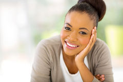 Amerykanin afrykańskiego pochodzenia kobieta obrazy stock