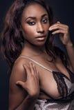 amerykanin afrykańskiego pochodzenia kobieta piękna seksowna Obrazy Royalty Free