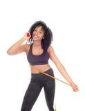 Amerykanin Afrykańskiego Pochodzenia kobieta z ćwiczenie arkaną Zdjęcia Stock