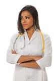 Amerykanin Afrykańskiego Pochodzenia kobiety pielęgniarka lub lekarka Obraz Royalty Free