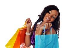 amerykanin afrykańskiego pochodzenia kupujący Zdjęcie Royalty Free