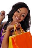 amerykanin afrykańskiego pochodzenia kupujący Zdjęcia Stock