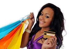 amerykanin afrykańskiego pochodzenia kupujący Obrazy Stock