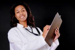 amerykanin afrykańskiego pochodzenia lekarki pielęgniarka obraz stock