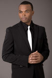 amerykanin afrykańskiego pochodzenia mężczyzna biznesowy ufny Fotografia Stock